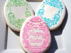 Elegant Easter Egg cookies 1 dozen by TheFancyLadyGourmet on Etsy, $36.00