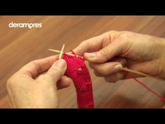 Make A Button Hole - Deramores Knitting tutorial