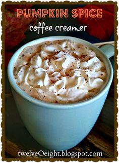 twelveOeight: How To Make Pumpkin Spice Coffee Creamer