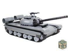 Custom LEGO T-72 (T-80) Russian Tank in Gray by CombatBrick.com