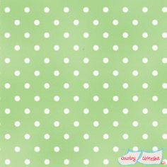 White Polka-Dot on Light Green