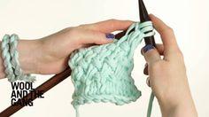 Knitting a Woven Stitch