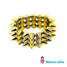 Bracelete Spike Dourado R$40.00