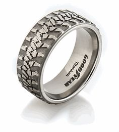 Wrangler Tread Ring, Mud Bogger Rings - Titanium- Very unique....LOL
