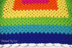 Charmed By Ewe | Free Pattern for Rainbow Granny Square Throw