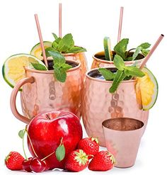 Copper Mugs – Moscow Mule – copper gift – Moscow Mule Mugs – copper straws – mule of moscow copper – Pure Copper – mugs copper – moscow mule set – hammered mugs – copper shot glass – no inner lining Review Copper Gifts, Copper Mugs, Pure Copper, Moscow Mule Mugs, Shot Glass, Pure Products, Tableware, Straws, Dinnerware