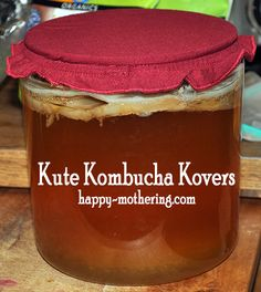 If we keep making this, it might be a great idea to invest in these or make my own! Kute Kombucha Kovers from Kombucha Kamp Kombucha Benefits, Kombucha Tea, Kombucha How To Make, Making Kombucha, Water Kefir, Fermented Foods, Home Brewing, Yummy Drinks, Great Recipes