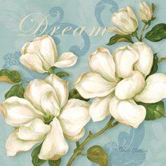 Inspiration Magnolias Print by Pamela Gladding at Art.com