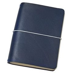 """FLEXI(""""M"""")-blue genuine cow-leather notebook +white elastic band Leather Notebook, Leather Journal, Personal Organizer, Notebook Covers, Leather Cover, Cow Leather, Cool Suits, Band, Laptop Sleeves"""