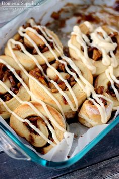 Apple Pie Cinnamon Rolls are the perfect fall brunch! Sweet apples with a ooey gooey cream cheese glaze, yum!