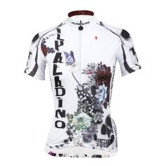 40556b9d4 ILPALADINO Flower Blossom Skull Women s Summer Cycling Short Jersey Bike  Shirt SportsWear Exercise Bicycling Pro Cycle Clothing Racing Apparel  Outdoor ...