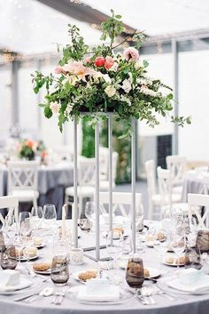 8ad799eff46427 42 Outstanding Wedding Table Decorations. Lavender Wedding  CenterpiecesWedding Table CenterpiecesFloral ...