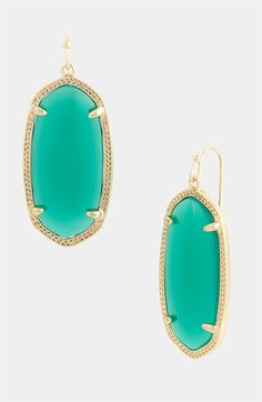 Kendra Scott 'Elle' Small Oval Earrings available at #Nordstrom, turquoise please...second choice green