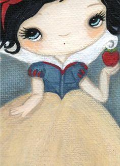 Snow White Art Bird Fairy Tale Print AppleThe por thepoppytree