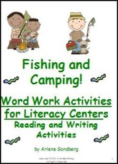 $5.95 This 33 page Word Work Packet for Grades 1-2 Literacy Centers includes Picture/Word Cards Match, Fishing/Camping Word Sort,  Making Compound Words, Antonym Match, Make and Take Book ,   Writing Activities and more