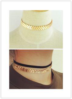 Cuivre de bijoux de mode chaîne lien collier collier cadeau pour les femmes fille N1923