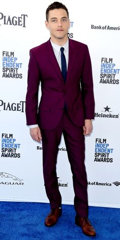 It's Official: Mr. Robot's Rami Malek Is Our Fashion Man Crush - At the 2016 Film Independent Spirit Awards from InStyle.com