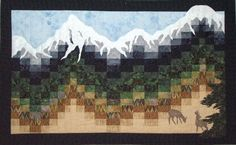 Early Snow. Grizzly Gulch Gallery. Bargello style piecing with snowcap applique. Beautiful!