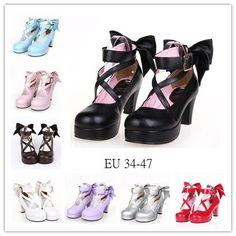 Image may contain: shoes Cute Shoes For Teens, Girls Formal Shoes, Bow Heels, Shoes Heels, Silver High Heel Shoes, Moon Clothing, Kawaii Shoes, Loli Kawaii, Lolita Shoes