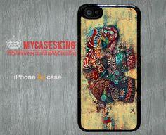 Elephant iPhone 5c case Elephant Art iPhone 5c case Elephant iPhone 5c cases iPhone 5c Hard/Rubber case-Choose Your Favourite Color by MyCasesKing, $6.99