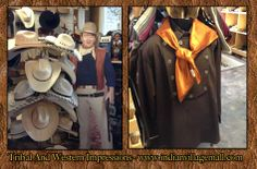 Inside Tribal Impressions - Look Who's Standing Guard Into The Stetson Hat Display Section!  Review online off off: http://www.indianvillagemall.com