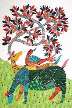 Kerala Mural Painting, Madhubani Painting, Indian Art Paintings, Nature Paintings, Indian Folk Art, Indian Ethnic, Kalamkari Painting, Doodle Art Drawing, Madhubani Art