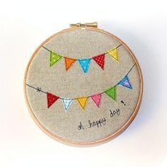 Pennant embroidery hoop