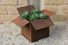 Corten steel planter box by Jass Design