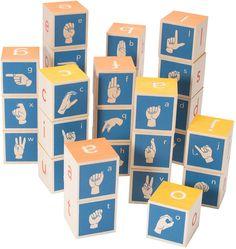 Sign Language Alphabet Blocks : Made in USA Toys