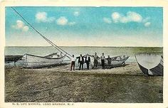Long Beach New Jersey NJ 1908 U S Life Savers Boats Antique Vintage Postcard