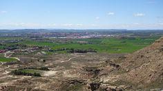 La ciudad de Huesca desde el Castillo de Montearagón