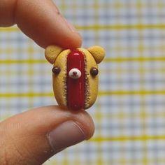 Remake Monday-hot dog dog #kawaii #cute #polymerclay #polymerclaycharms #crafts
