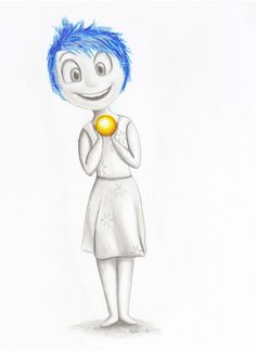 Joy from inside out-disney-pixar-fan art - wall art-character art