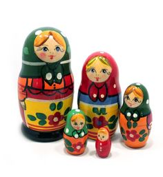 Starorusskaya traditional Russian matryoshka nesting doll set Doll Set, Traditional