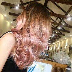 Dusty pink Balayage via @zedhairandbeauty. #pinkhair #hairinspo #hairgoals #hair…