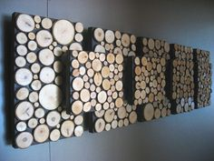 More sliced wood wall art.