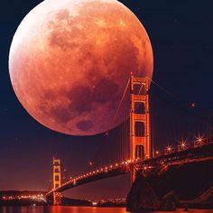 Who else is watching super blue blood moon? #Bloodmoon #supermoon   Via: @eye.c   BG : @s1mmonds from @unsplash    #Regram via @artselect