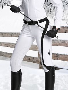 Equiline Show Jumping Breeches in White. I think you could wear this for dressage too