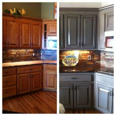 My kitchen before and after!