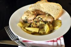 ... Melissa Clark's Chicken Thighs with Green Tomatoes, Basil, and Ginger