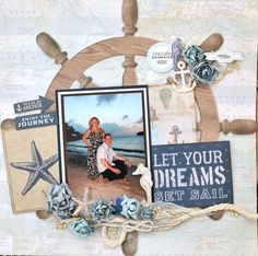 The first thing you need to know about making a scrapbook is that it isn't a complicated process at all. Scrapbooking isn't just for the 'crafty' person among Cruise Scrapbook Pages, Beach Scrapbook Layouts, Vacation Scrapbook, Scrapbook Designs, Scrapbook Albums, Scrapbook Supplies, Scrapbooking Layouts, Scrapbook Cards, Scrapbook Images