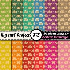 Digital papers with lotus pattern. 12 papers in vintage colors.DIGITAL PAPER PACK :- You can print for your scrapbooking projects, cutting, invitation cards ...- You can use for your digital creations, banners design, background image for your blog ...FORMAT:-:-:-:-:-:-:-:-:-:-:-:-:-:-:-:-:-:-:-:-:-:-:-:-:-:-:-:-:-:-:-:-:-:-:-:-:-:-:-:-:-:-:-:-:-:-:-:A4 and 12x12 inchesJPG files high quality 300 dpiSuitable for digital use or printing.YOU WILL…