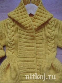 Жакет - пальтишко для девочки. Автор Людмила Губернаторова Baby Coat, Baby Knitting Patterns, Sweaters, Fashion, Knit Jacket, Knitting Patterns, Long Scarf, Toddler Girls, Authors