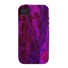 Purple Wood Bark Textures Case-Mate iPhone 4 Covers From Florals by Fred #gift #photogift #zazzle
