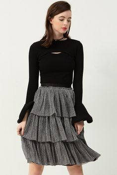 Lara Tiered Skirt Discover the latest fashion trends online at storets.com #skit #tieredskirt #cancanskirt
