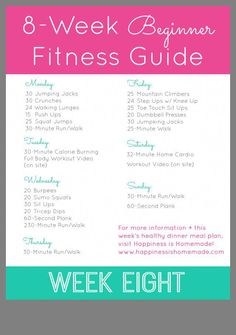 8week beginner fitness jumpstart week one  no gym no