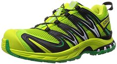 Salomon XA Pro 3D Trail Running Shoes - SS15 - 9.5 - Green -- Details can be found by clicking on the image.