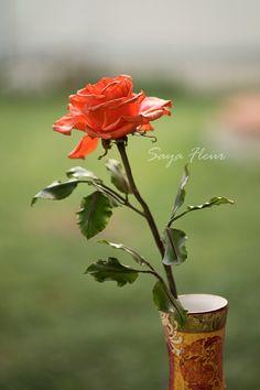Роза из глины