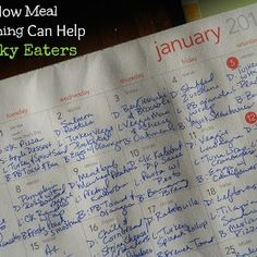 Meal Planning Basics  How Meal Planning Can Help Picky Eaters