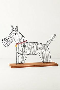Wire Dog Sculpture By Kaitlyn McCane. Making one for Sid